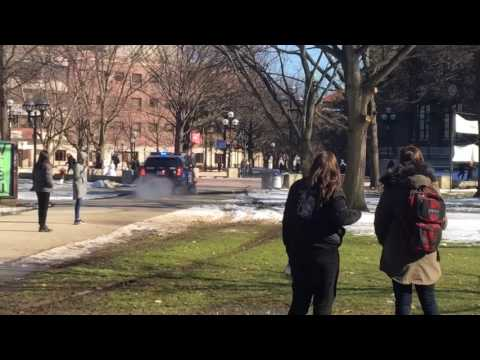 Police chase on University of Michigan Diag that ended with Taser