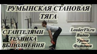 Румынская становая тяга с гантелями. Техника выполнения наклонов с гантелями, работающие мышцы