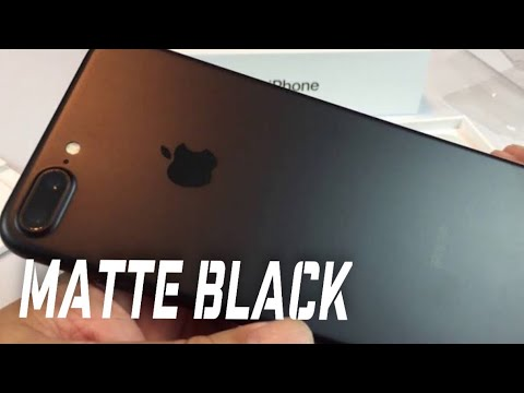 Matte black Apple iPhone 7 Plus unboxing