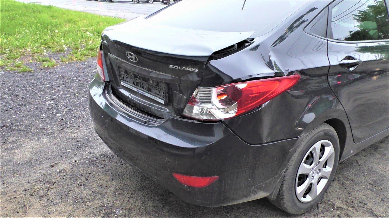 Хундай солярис восстанавливаем после дтп Нижний Новгород Hyundai Accent Auto body repair