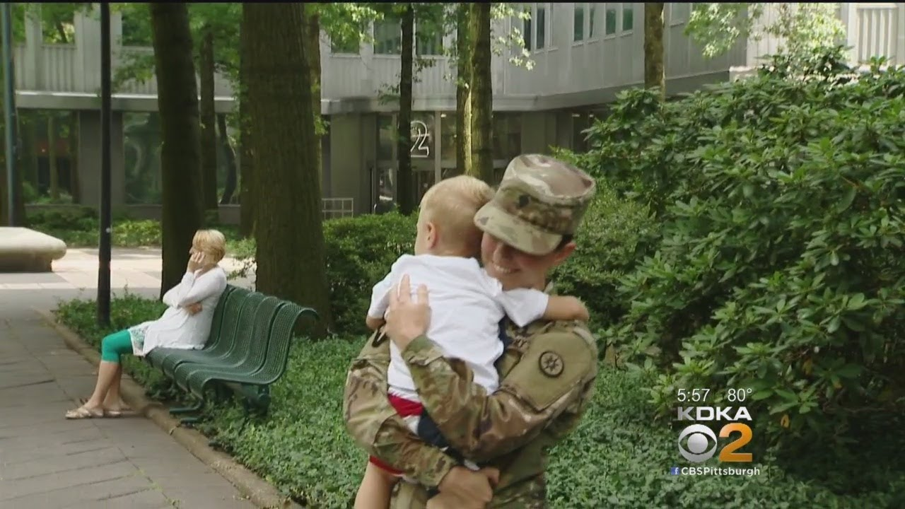 Military Mother Reunited With 2-Year-Old Son, Husband After 10-Month Deployment