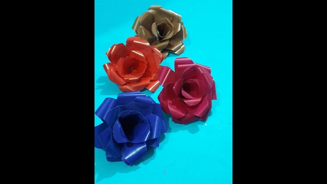 How to make rose with wrapping paper rose making diy easy how to make rose with wrapping paper rose making diy easy wrapping paper rose making video mightylinksfo