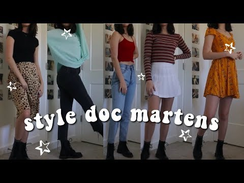 how i style my doc martens (outfit ideas)