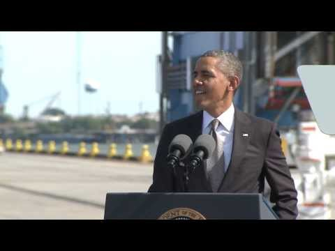 President Obama visits the Port of New Orleans
