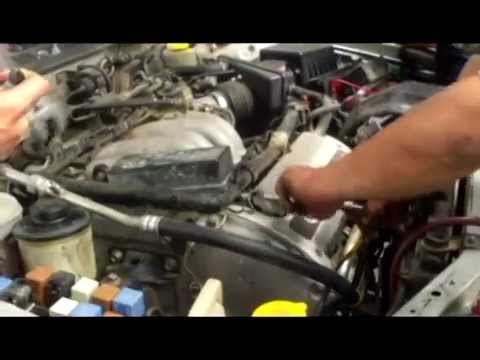 How to fix Nissan Maxima or Infiniti I30 air conditioning charge R134a install ambiance sensor