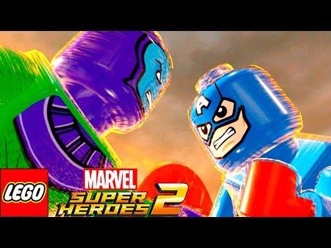 CAPITÃO AMÉRICA GIGANTE VS KANG GIGANTE no LEGO Marvel Super Heroes 2 #20 FINAL Dublado em Português