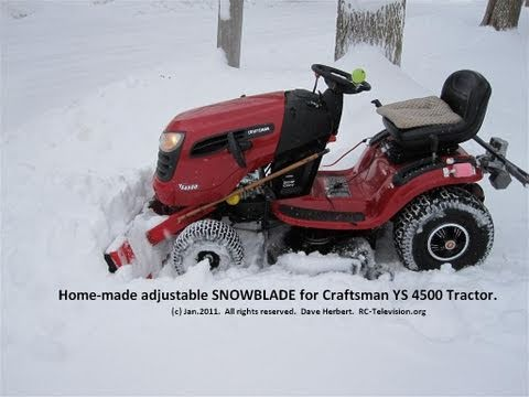 Then attach a snow plow attachment from a utility or lawn tractor. I Made A Snowblade For My Craftsman Ys 4500 Lawn Tractor Sibley Winter Beauty Youtube