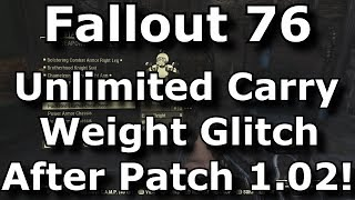 Fallout 76 Unlimited Carry Weight Glitch After Patch 1.0.2! Infinite Inventory (Fallout 76 Glitches)