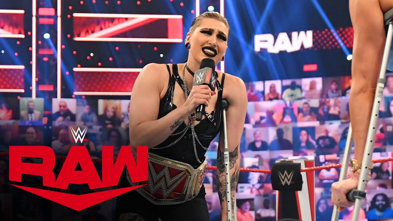 """Rhea Ripley emerges with an """"injury"""" during Charlotte Flair's medical update: Raw, July 5, 2021"""