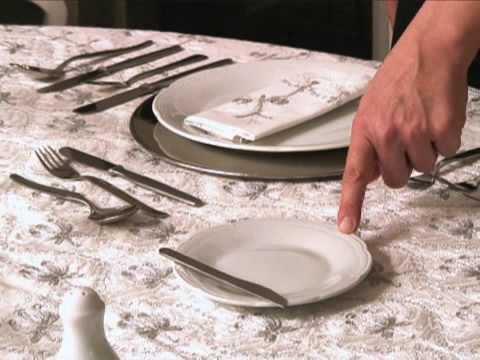 poner la mesa correctamente MESA FORMAL 1