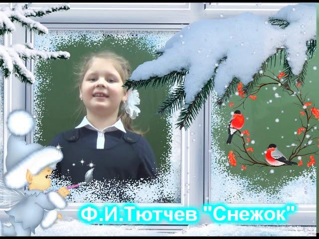 Изображение предпросмотра прочтения – СофияКупцова читает произведение «Снежок» Ф.И.Тютчева