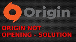[SOLUTION] - ORIGIN NOT OPENING