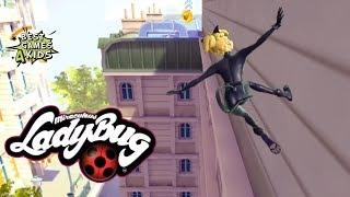 Miraculous Ladybug & Cat Noir #11 | CAT NOIR: Leap over rooftops & run through alleyways!