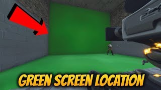 NEW Fortnite POI Risky Reels ELGATO GREEN SCREEN Easter Egg Location! Season 4 Secrets!