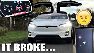 the tesla broke someone hacked my car