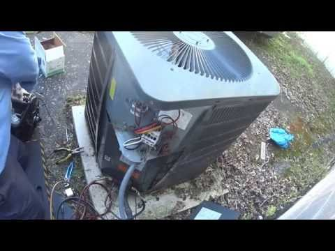 Goodman 5 ton AC unit with bad condenser fan motor