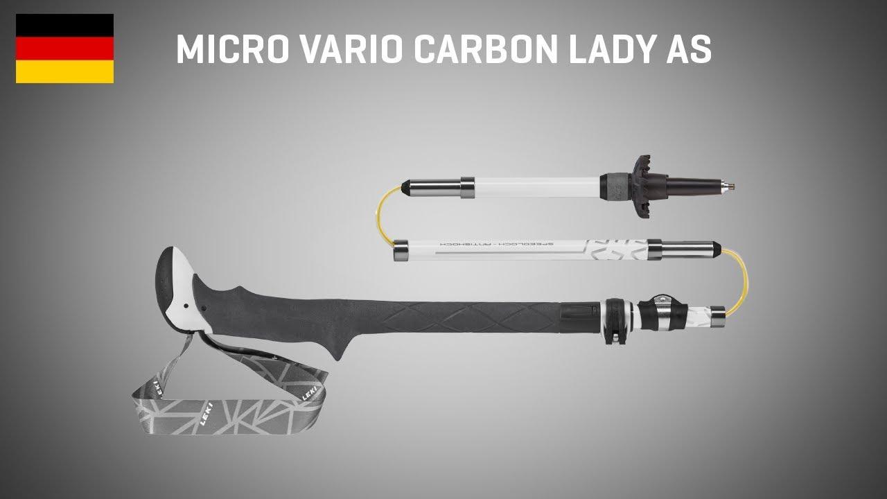 Leki Micro Vario Carbon Lady SL 2 AS DSS Wander Trekking Stöcke 6492059 2019