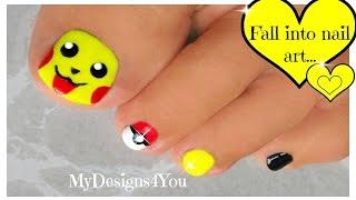 Pokémon Toenail Art | Cute Pikachu Pokemon Nails ♥