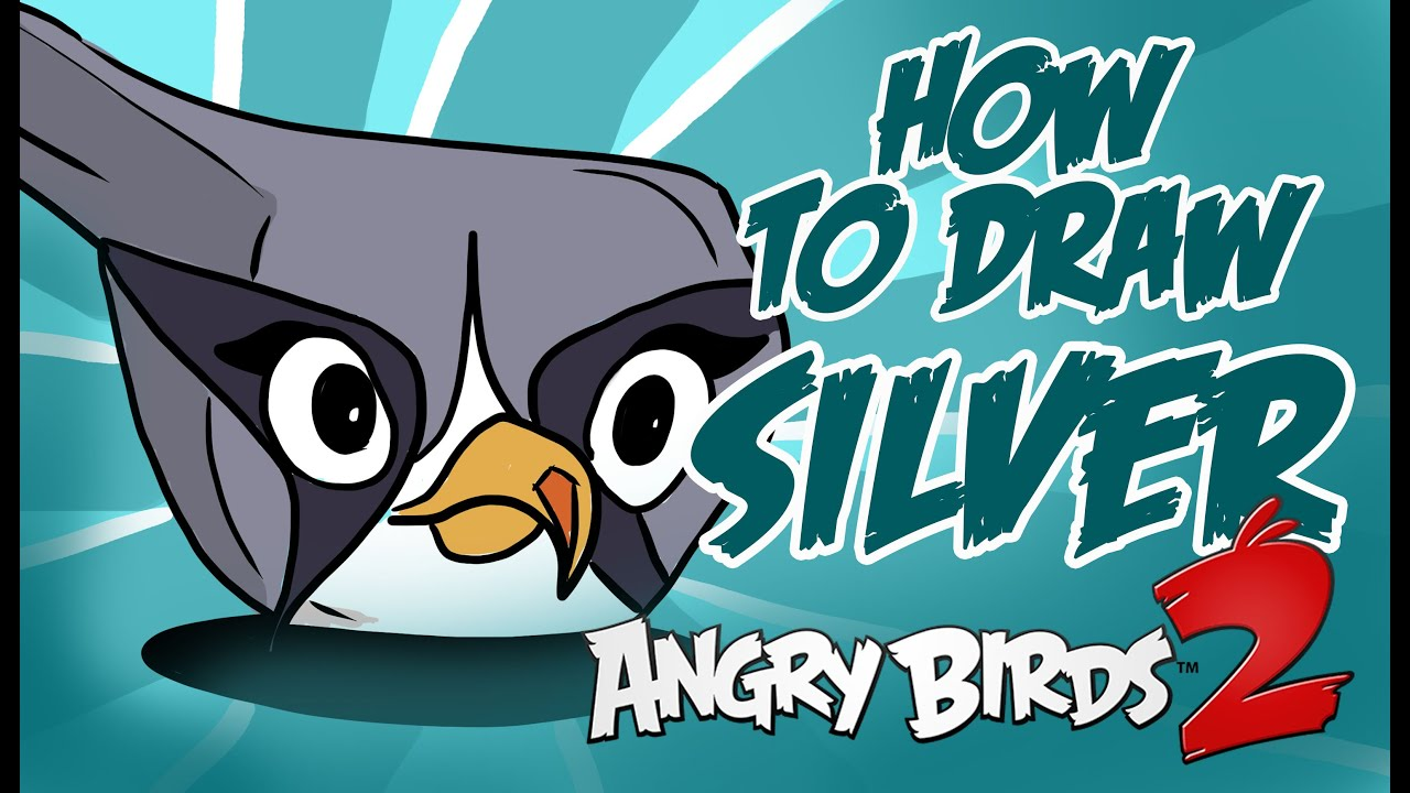 How To Draw SILVER (Angry Birds 2)!!!