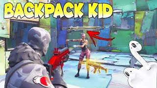 THE BACKPACK KID TRY TO SCAM MY BEST GUN IN FORTNITE (SCAMMER GETS SCAMMED) FORTNITE SAVE THE WORLD