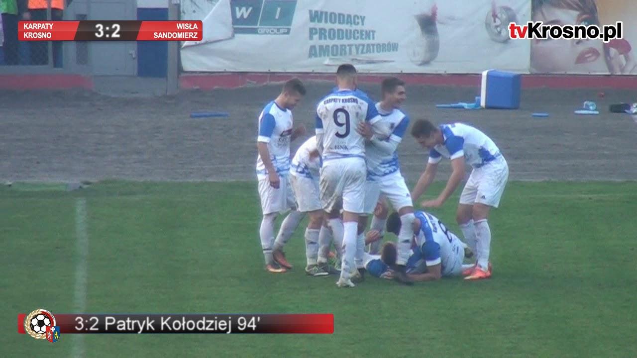 Niewiarygodny mecz Karpat! Dwa gole w doliczonym czasie gry. Krośnianie wydarli cenne zwycięstwo