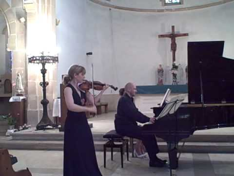 Amanda Favier plays Cesar Franck's Violin Sonata's First Movement with Emile Naoumoff, piano