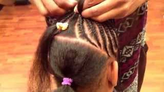 Children's cornrow style by Tope at Natural Locs Salon
