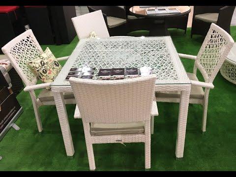 Белая мебель из ротанга