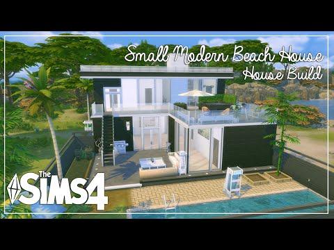 The Sims 4: House Build   Small Modern Beach House