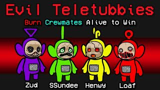 NEW Among Us SCARY TELETUBBIES ROLE?! (Scary Mod)