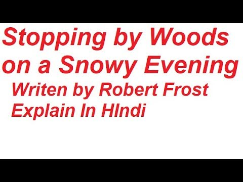 stopping by woods on a snowy evening poem in hindi