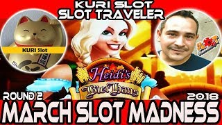 🚩ROUND#2 West★ Heidi's Bier Haus Slot machine 🎰 #March Madness 2018★KURI Slot VS Slot Traveler★栗スロ