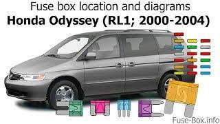 Fuse Box Location And Diagrams Honda Odyssey Rl1 2000 2004 Youtube