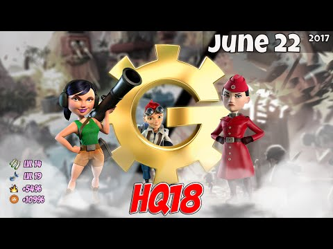 Boom Beach - HQ18 War Factory Unboosted -...