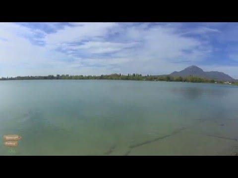 Новопятигорское озеро. Змейки в озере. Пятигорск. Достопримечательности.