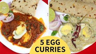 5 Egg Curry Recipes | Peri Peri Egg Curry | Egg Ravaiya Curry | Egg Malai Curry - TastedRecipes