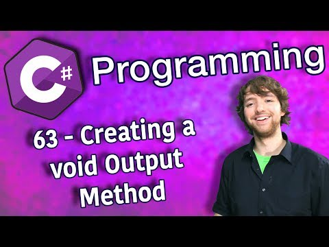 C# Programming Tutorial 63 - Creating a void Output Method thumbnail