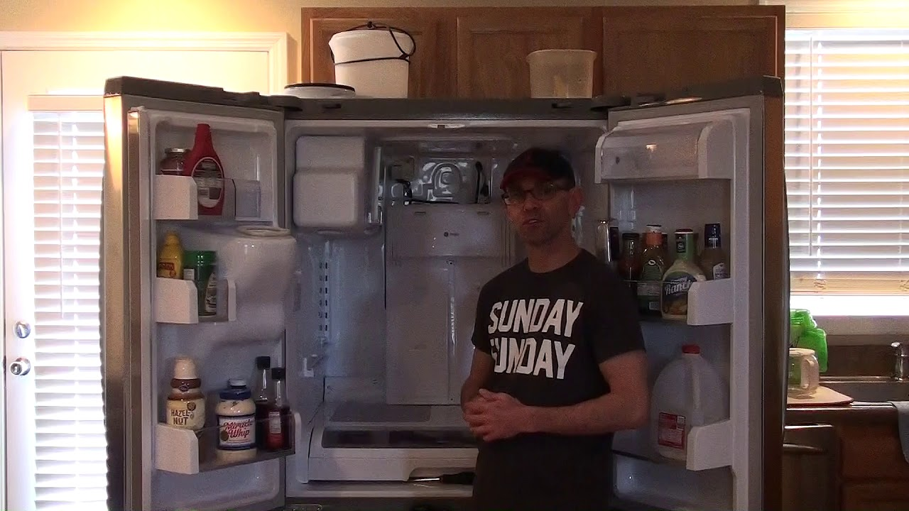 clearing defrost drain tube on a ge profile refrigerator please consider donating  [ 1280 x 720 Pixel ]