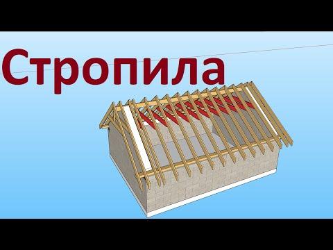 Двускатная крыша стропильная система мансарда своими руками видео
