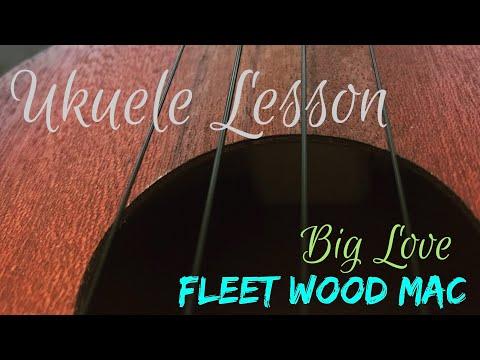 Big Love - Fleetwood Mac Ukulele lesson Rift/ chords