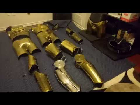 C-3PO Costume Blog 23 - Gold v1 done, and felt lining added