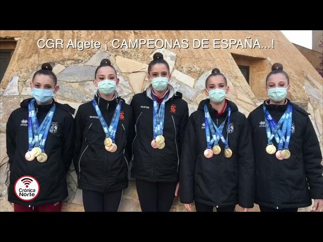 Las chicas del Club de Gimnasia Rítmica de Algete son Campeonas de España
