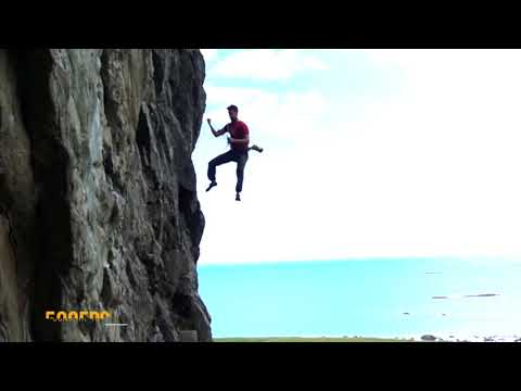 500fps - 9m whipper while climbing in Eggum, Lofoten, Norway
