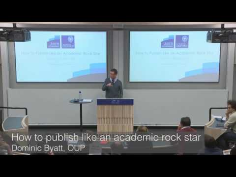 How to Publish Like an Academic Rock Star