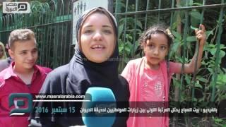 بالفيديو| بيت السباع يجذب زوار حديقة الحيوان برابع أيام العيد