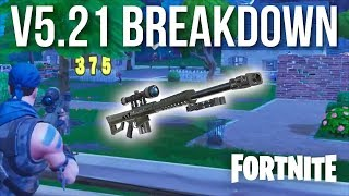Fortnite V5.21 NEW HEAVY SNIPER & SOARING 50'S LTM | Patch Breakdown and Gameplay
