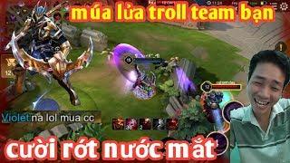 Liên Quân _ Nakroth Troll Team Bạn Cực Hài Hước | Cả 2 Team Đều Cay Cú Với Màn Múa Lửa Này