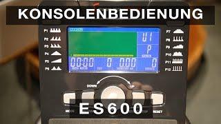 Sportstech ES600 - Konsolenbedienung