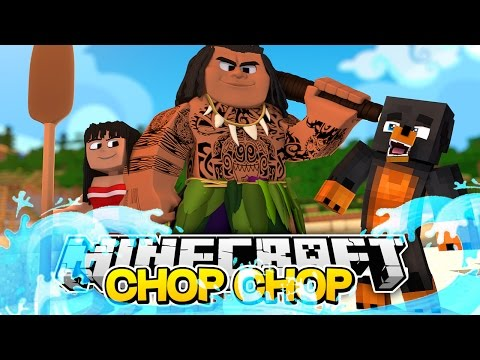 Minecraft CHOP CHOP - MOANA & MAUI GET CHOPPED UP BY DONUT & BABY MAX - Donut the Dog Minecraft