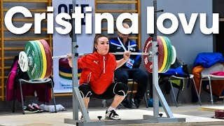 Cristina Iovu (53kg) Training Hall 2016 European Weightlifting Championships